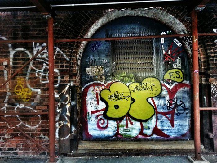 Streetart Hanging Out Hello World Graffiti