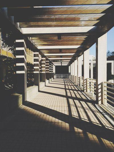 浩然的逃生梯好美喔 Light And Shadow Sunny Day Stairs