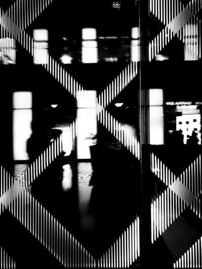 Black & White Shadows & Lights Sillouettes Glass Windows Windows Reflection Touring Symmetry Signs Random Shots Walking Around Malls