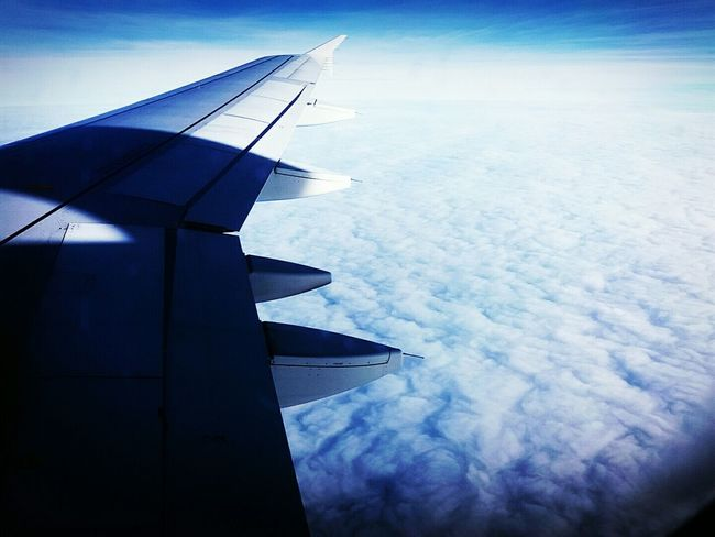 Fly Sky And Clouds Airplane