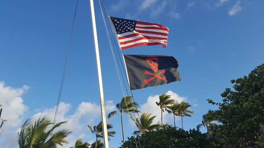 Aloha! Hello World Pirate Flag Ahoi! Arrggg Hanging Out Being A Beach Bum