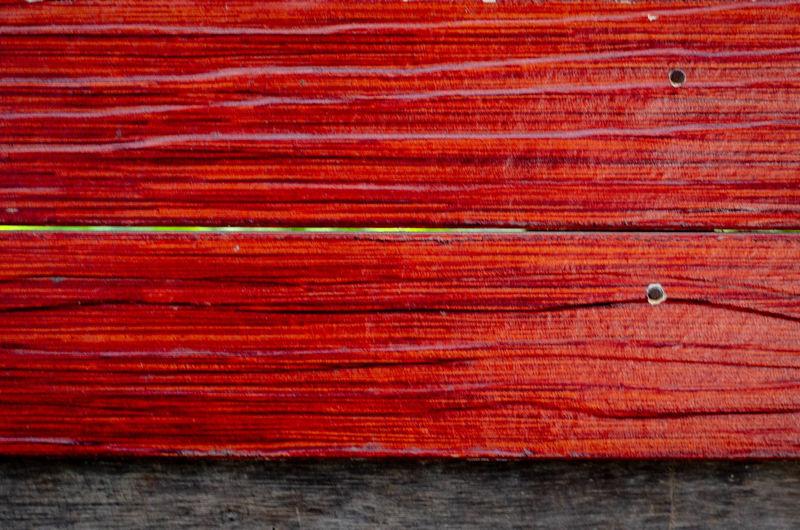 Full frame shot of red table