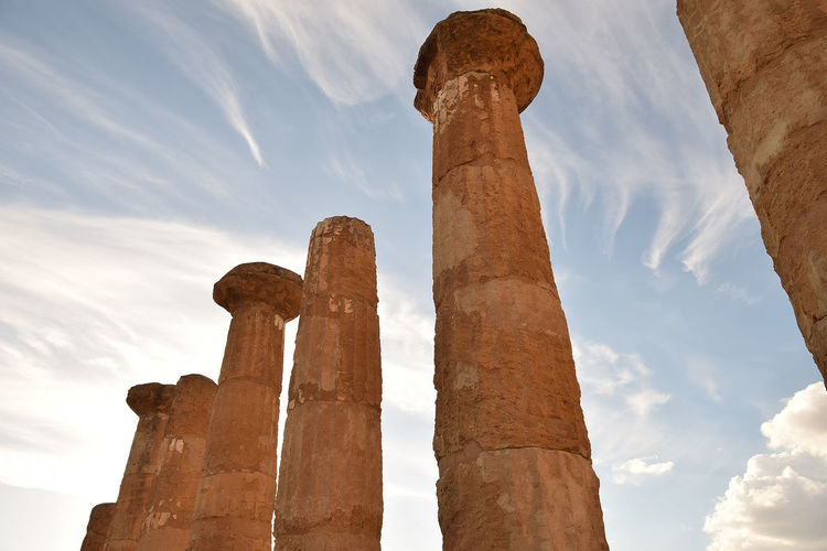 Ancient Architectural Column Architecture Blue Built Structure Cloud Cloud - Sky Cloudy Column Day History Low Angle View Monument Nature Old Outdoors Ruins Sky Tall - High The Past Travel Destinations