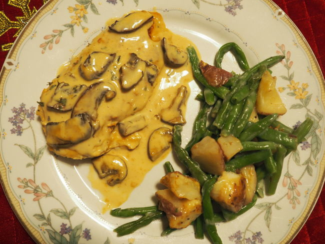 Chicken Marsala Delicious First Attempt Food Food And Drink Freshness Healthy Eating High Angle View Plate Ready-to-eat Serving Size Single Dad Home Cooking Plate Of Food Dinner Food Photography Sharing Food Dish Served Main Course Prepared Food