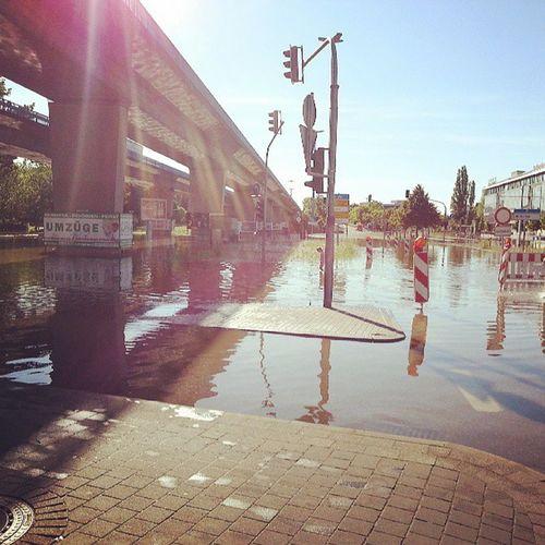 Hochwasser 2013 Hallesaalegermany Hallesaale knoten46 glauchaerplatz