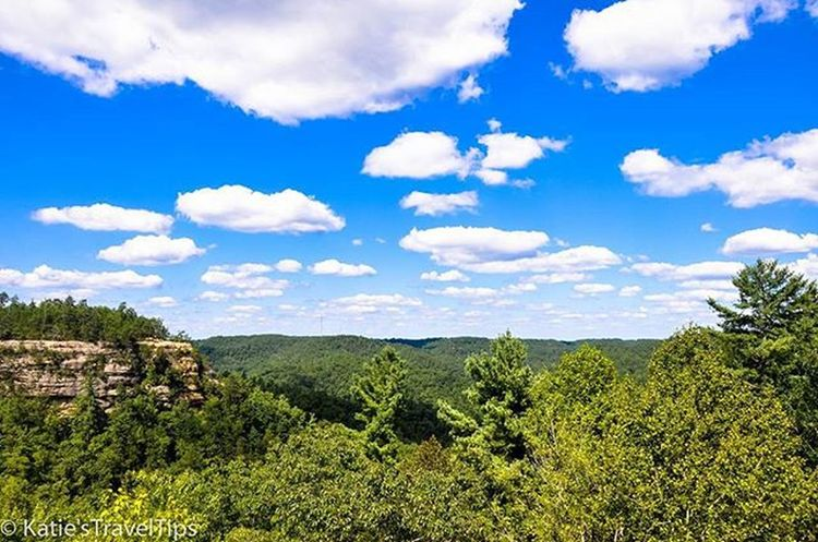 Throwback to this summer and the beautiful view from the top of natural bridge state park in Slade, Kentucky! This place is awesome because you can either hike to the top or take a chairlift up to enjoy this amazing bridge made out of rock. Wanderlust Travel Hiking Naturalbridge Kentucky  Redrivergorge Like4like Likeforlike Follow4follow Explore Nature