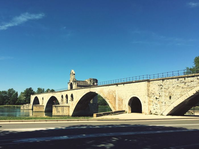 Pont d'Avignon. Pont Avignon France Bridge Water City Old Building