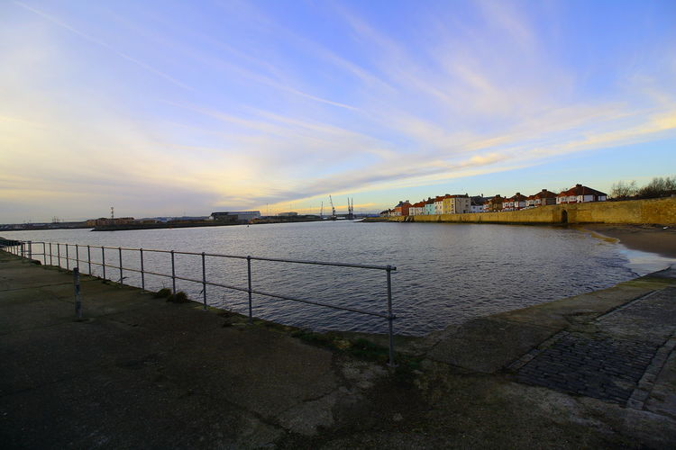 OUT AND ABOUT IN HARTLEPOOL Water Sky Architecture Built Structure Cloud - Sky Sea Nature No People Building Exterior Beauty In Nature Tranquility Tranquil Scene Pier Scenics - Nature Sunset Outdoors Beach Land