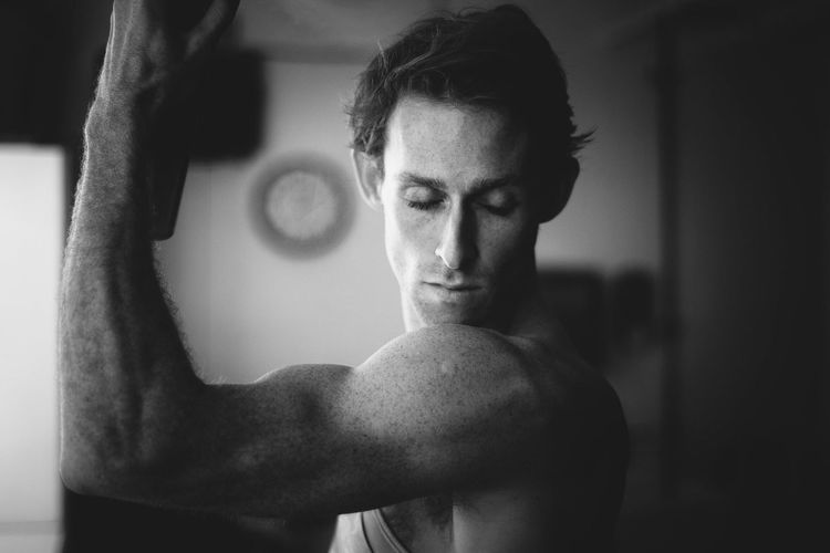 Authentic Moments Aqua-Net. Black & White Portrait New York City Ballet Man Beauty Monochrome