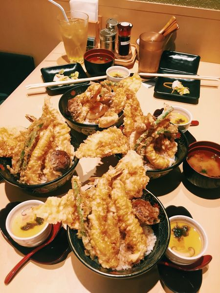 Food And Drink Food Plate Ready-to-eat Table Meal Bowl Deep Fried  Seafood Serving Size Freshness TENDON Japanese Food