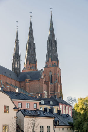Architecture Building Exterior Built Structure Cathedral City Cityscape Day No People Outdoors Place Of Worship Roof Sky Tower Travel Destinations Uppsala Domkyrka