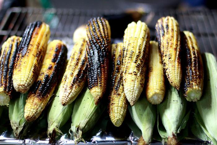 Mexican Food, Corn Eating Healthy Food Mexican Tradition No People Outdoor Roasted Corn