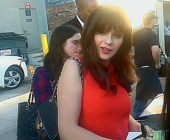Earlier today with Zooey Deschanel Zooeydeschanel Hollywood Autograph Autographs Celebrity My Love❤ Babybump Baby Bump Signing