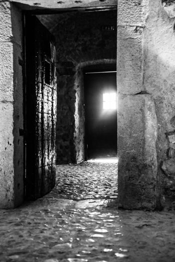 Montefusco Avellino Carcere Borbonico BW_photography Bw Porta Architecture Building Built Structure No People Entrance Indoors  Door