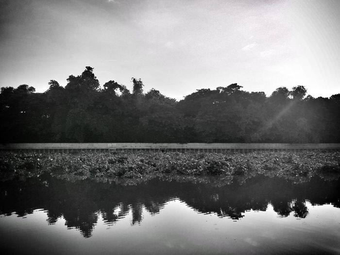Reflection Water No People River Tranquility Nature Day Black And White Eyeem Philippines The Week On EyeEm Manila, Philippines