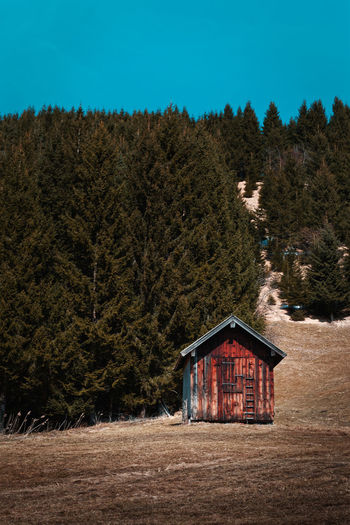 Cabine by the forest Architecture Nature Outdoors Cottage Rural Scene Cabinet Fine Art Photography Fine Art Forest Vintage Retro Moody Mountains Mountain Berge Alpen Alps Bavaria Bayern Germany Simple Canada