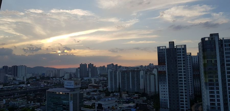 Skyscraper Sunset Urban Skyline Cloud - Sky