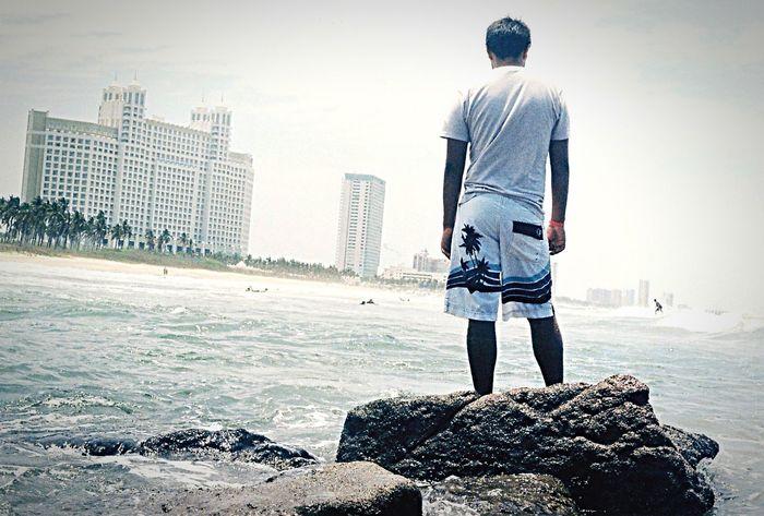 Surfing Olas Rompiendo Las Olas Stone Beachphotography Hotel Riu Hotel Plano Holandés Back Surfers
