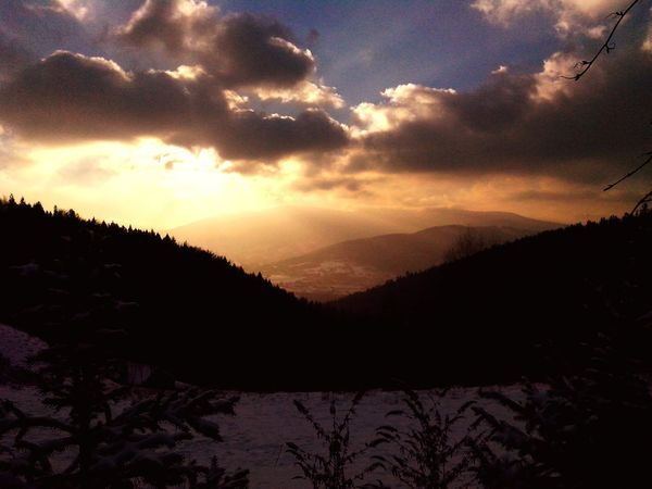 Winter Clouds And Sky bielsko Sunlight Landscape