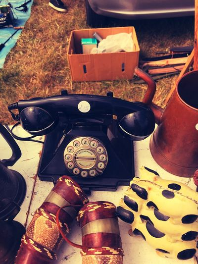 Old-fashioned Retro Styled Rotary Phone Telephone Communication No People Technology Old Technology Vintage Old Old-fashioned Junk Car Boot Sale Car Boot Vintage Photo Vintage Shopping