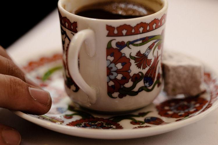 Close-up of black coffee