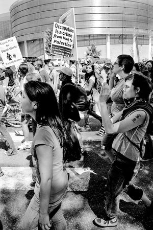 Protests at the 2008 Democratic National Convention (DNC) 2008 Democratic National Convention Black & White Film Protest Adult Adults Only Black And White Black And White Photography Blackandwhite Blackandwhite Photography Casual Clothing Civil Disturbance Day Film Photography Large Group Of People Leisure Activity Lifestyles Men Outdoors People Protesters Real People Standing Tri-x 400 Pushed Women Young Adult