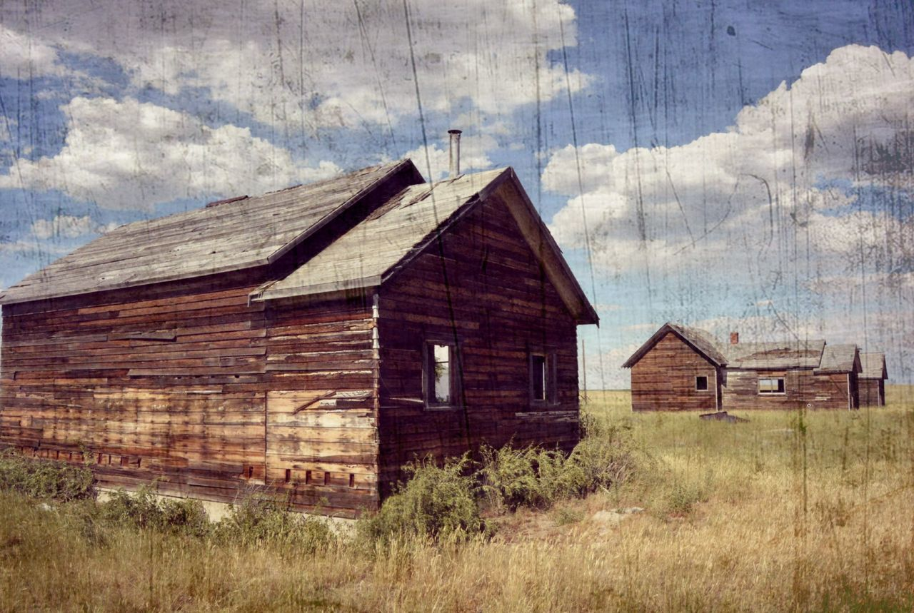 wood - material, built structure, architecture, abandoned, cloud - sky, weathered, building exterior, old-fashioned, day, run-down, no people, brown, sky, rustic, farmhouse, rural scene, retro styled, barn, grass, outdoors, rotting, close-up
