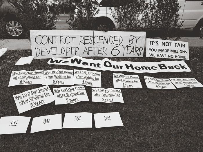 Protest People War Development Lost Home Australia Sydney, Australia Homebush Centenary Park We Want Our Back