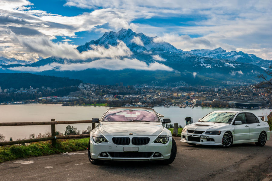 The Beauty and the BEAST Beast Bmw Car Evo Switzerland Alps Beauty Beauty In Nature Bmw Bmw I ♥ It Car Cloud - Sky Day Landscape Mitsubishi Evo Mountain Mountain Range Nature No People Outdoors Point Of View Road Scenics Sky Switzerland Switzerlandpictures Transportation