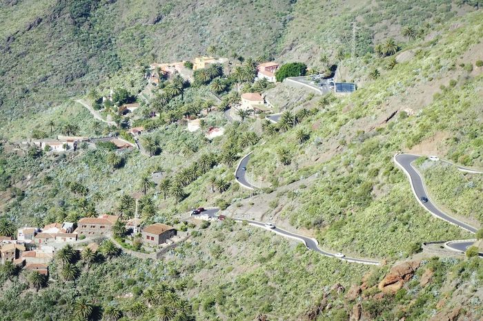High Angle View Aerial View No People Nature Small Town Serpentines Landscape Finding New Frontiers EyeEm Masterclass Eye4photography  Shootermag Landscape_Collection Landscape_photography Winding Road Road Tenerife From A Bird's Eye-view
