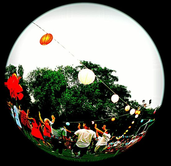 Japanese Traditional MatsuriFestival Paper Lantern Japanese Style Japanese Culture Tree Portrait Togetherness Red Young Adult Lifestyles Real People Leisure Activity Celebration Kimonogirl Women Dancing Together Men Happiness Matsuri Celebration Buenos Aires