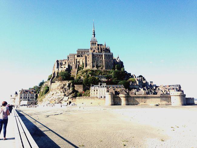 Walking in Mont Saint-Michel Enjoying Life