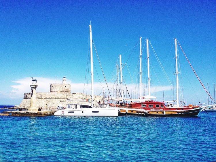 Rhodos Island Ship Sea