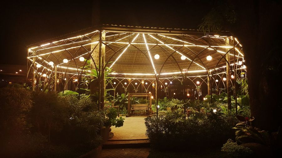 Gazebo No People Illuminated EyeEmNewHere Mobile Photography Built Structure Philippines Leisure Activity Travel Destinations Night Enjoyment The Secret Spaces