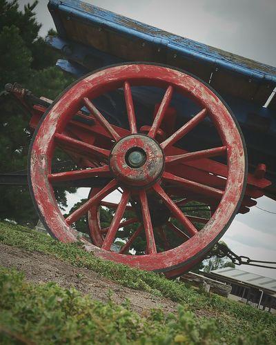 Wheel Cart Paint Decay
