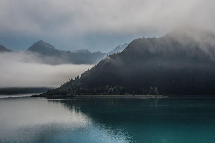 Misty, calm
