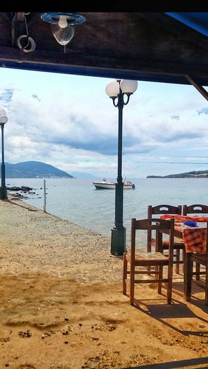 Taverna EyeEm Beautiful Nature Water Sea Beach Sand Sky Horizon Over Water Sunshade Boat Seascape