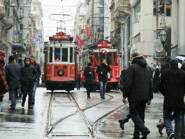Tramway Tramways Istanbul Turkey Istanbul City Turkey Taksim Istiklal Istiklalstreet Taksimbeyoglu Istanbulcity People My Commute