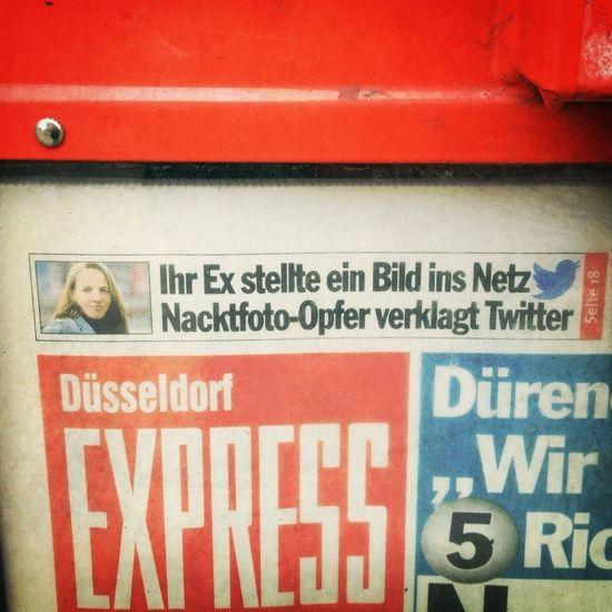 """""""Erwischt: EXPRESS verbreitet Lügen. Leser verklagt deutsche Papierindustrie."""" #express #twitter"""
