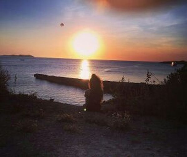 Ibiza sunset water beauty in nature horizon over water tranquil scene nature tranquility majestic tourism orange color