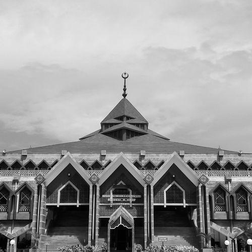 Bw Photography Blackandwhite Photography Black & White Mosque INDONESIA Makassarcity