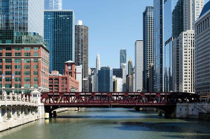 Chicago Architecture Bridge Chicago City City Life Loop River Riverwalk Skyscraper Travel Destinations Urban Skyline
