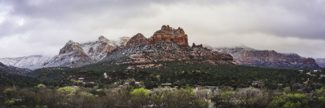 Beautiful Sedona! Panorama Sedona, Arizona Architecture Beauty In Nature Built Structure Cloud - Sky Day Environment Formation Land Landscape Mountain Mountain Peak Mountain Range Nature No People Outdoors Plant Rock Rock Formation Scenics - Nature Tranquil Scene Tranquility