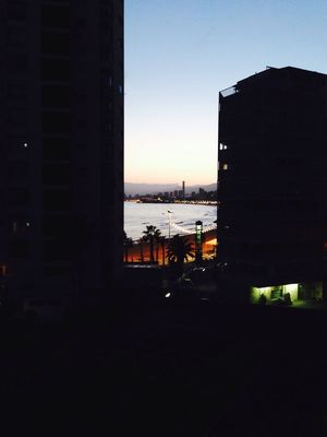 A view of the beach from my apartment in Spain Architecture Built Structure Building Exterior City Cityscape Water Tall - High Tall Sky No People Dark City Life Beach Apartment View