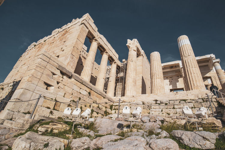 Acropolis Athens Greece Acropolis Ancient Civilization Ancient Built Structure Architecture Old Ruin History Sky The Past Tourism Archaeology Travel Place Of Worship Travel Destinations Solid Building Exterior Religion No People Nature Old Ruined Outdoors Architectural Column