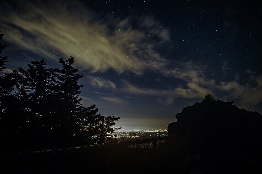The night sky over portland Hanging Out Hello World Relaxing Taking Photos Enjoying Life Star - Space Stars Starry Night Astronomy Nikond3300 Outdoors Forest Editedbyme Mountain View Mt Hood State Forest Larch Mountain