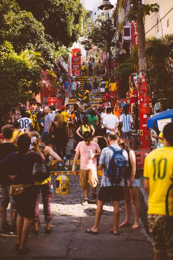 Brazil Escadaria Selarón Hello World Hanging Out