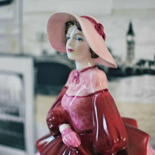 Lovely Figurine Woman Lady In Red Lady In Pink Lady In London Lady In Hat London Lady Figurine  Fashion Human Representation Focus On Foreground Day Red Outdoors One Person first eyeem photo