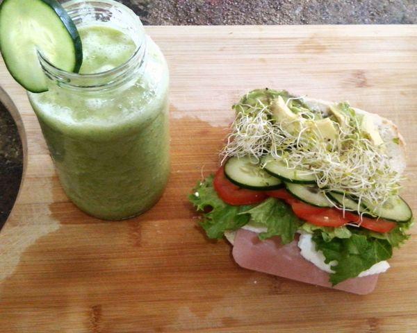 Breakfast Healthy Food Enjoying Life Good Morning GREEN IS GOOD Happy Sunday