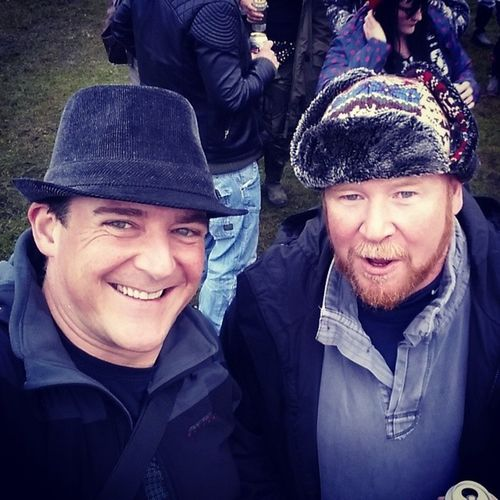 First of many shots from yesterday at BeardedTheory Festival in Derbyshire. A rare Selfie with the Bro-in-law @tex_x GreatTimes